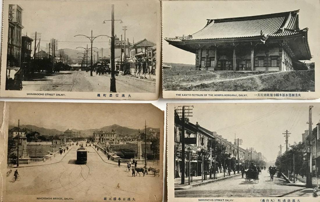 Late Meiji-Taisho Era Postcards Views of Dalny 1900s - 2