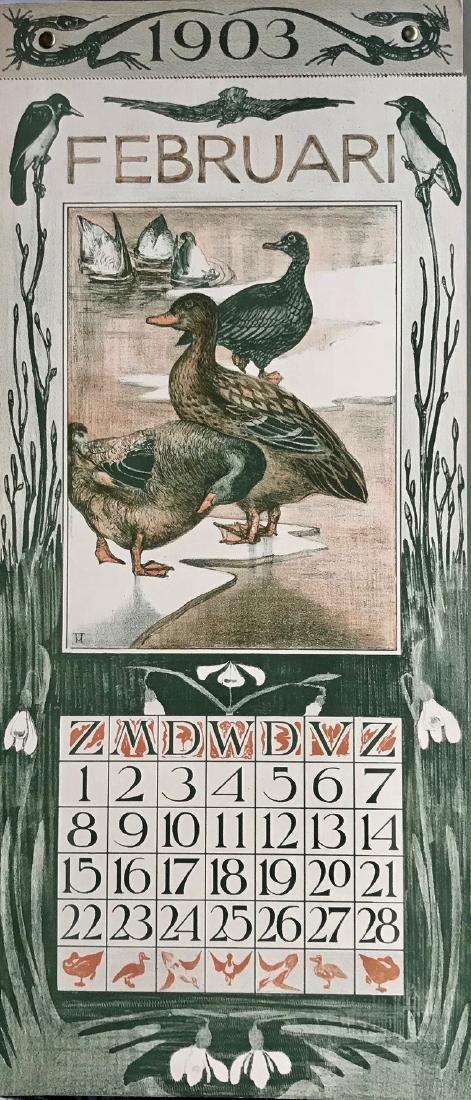 Hoytema Theo Van Complete1903 Dutch Calendar (12)