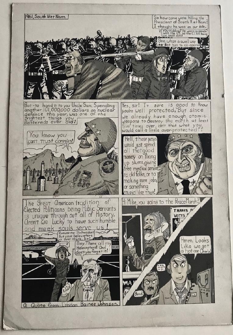 Viet Nam War Comic Strip Storyboard LYNDON JOHNSON