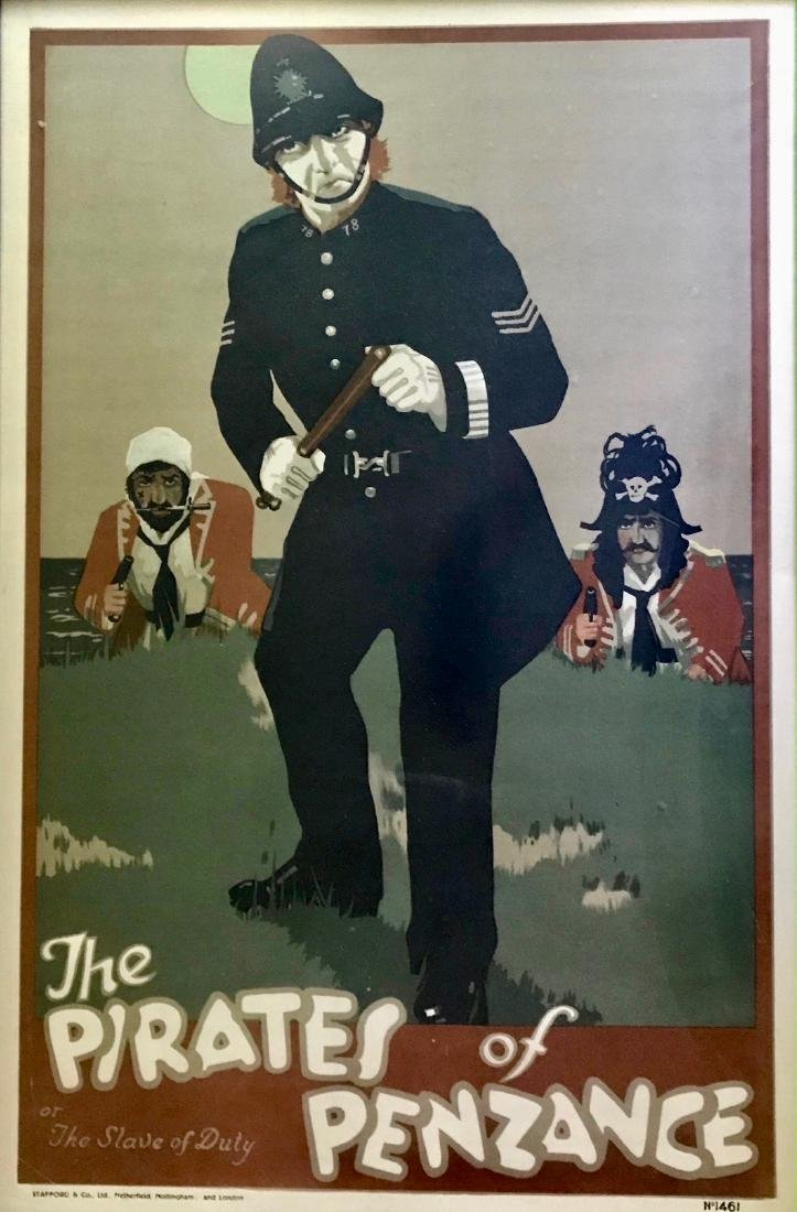 Pirate Of Penzance SLAVE OF DUTY Theatrical Poster 1910