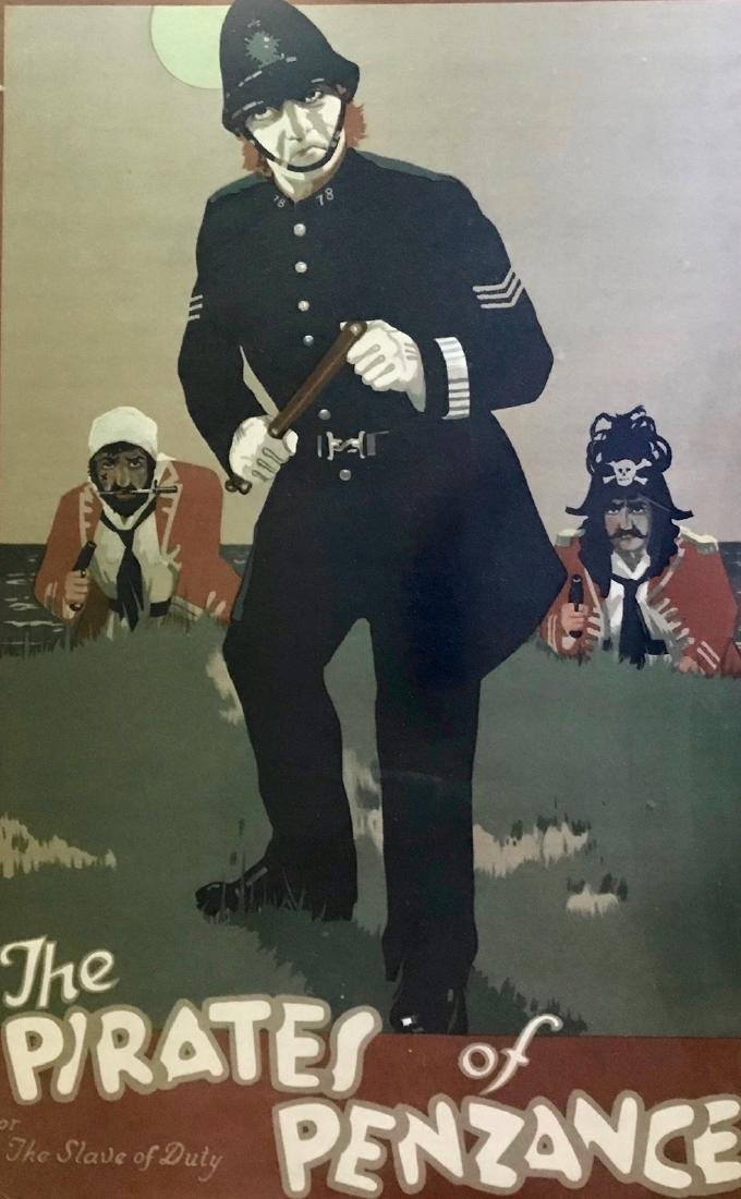 Pirate Of Penzance SLAVE OF DUTY Theatrical Poster 1910 - 3