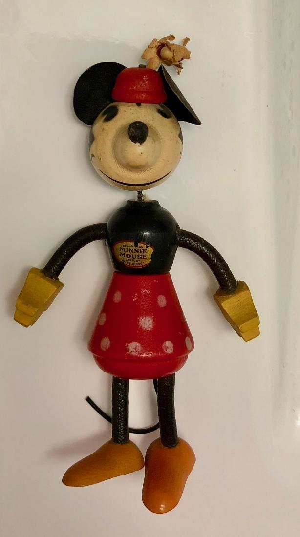 Disney 1930s Minnie Mouse Fun-E-Flex Wood Figure