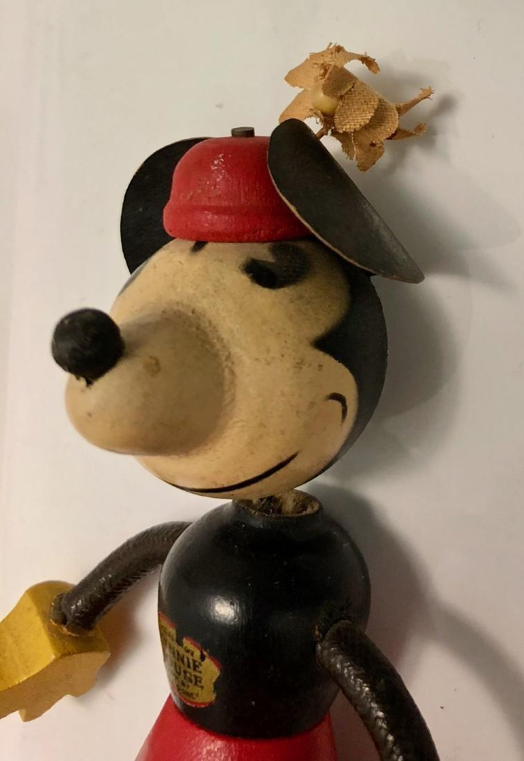 Disney 1930s Minnie Mouse Fun-E-Flex Wood Figure - 3