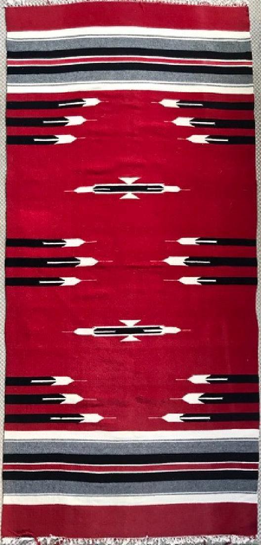 Navajo Indian Woven Rug Circa 1930s