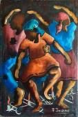 Haitian Voodoo Ceremonial  Painting RAYMOND JOSEPH