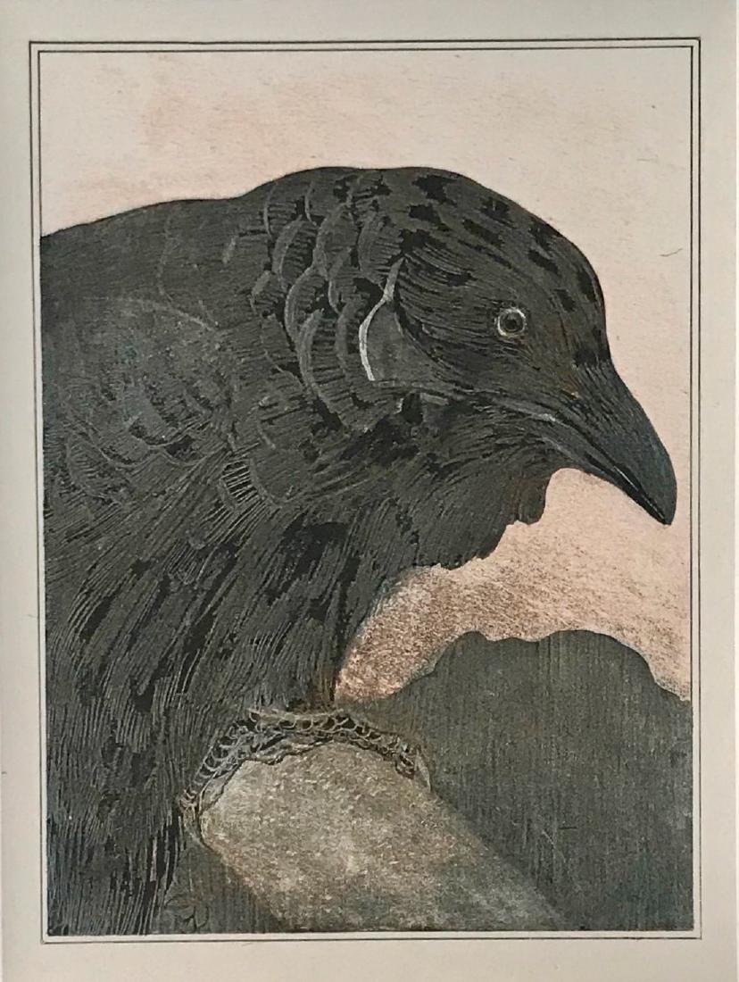 Theo Van Hoytema OLD CROW Papier de Chine Proof 1908