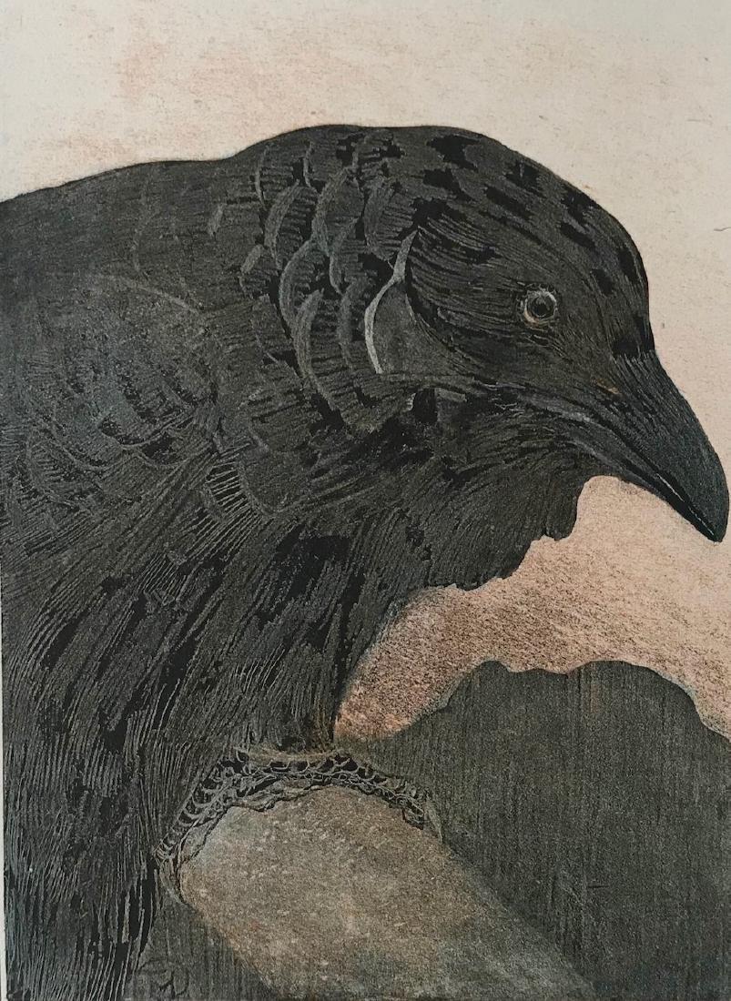 Theo Van Hoytema OLD CROW Papier de Chine Proof 1908 - 2