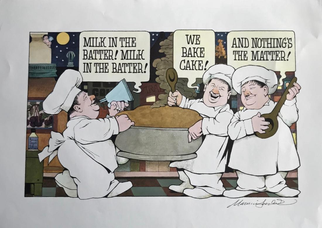 Night Kitchen Milk In The Batter Hand-Signed M. Sendak