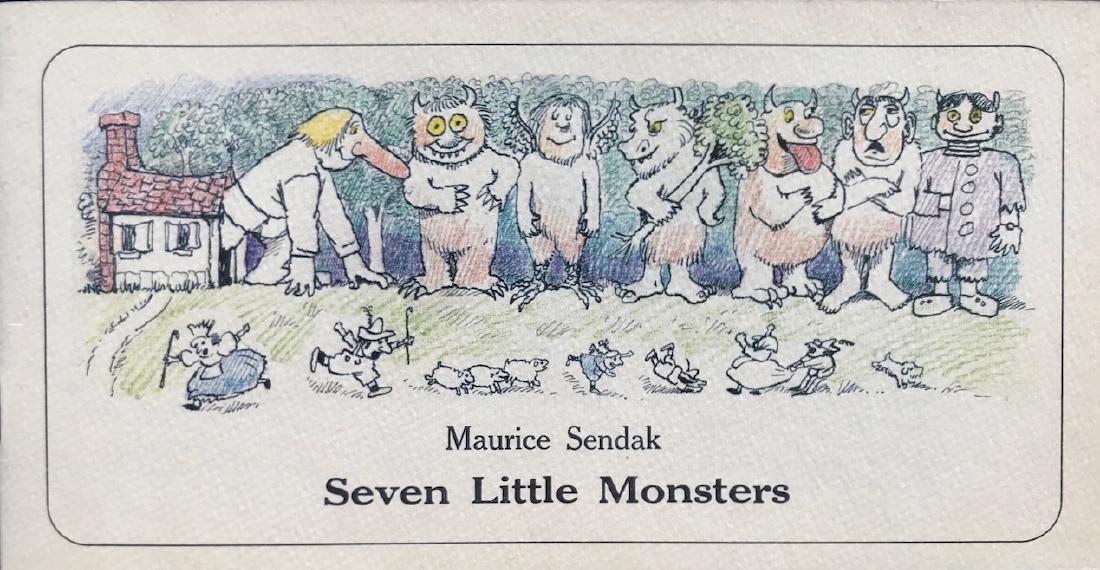 Seven Little Monsters Hand-Signed Maurice Sendak 1977