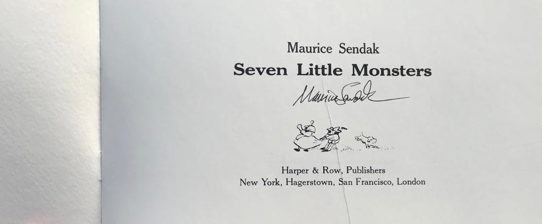 Seven Little Monsters Hand-Signed Maurice Sendak 1977 - 2