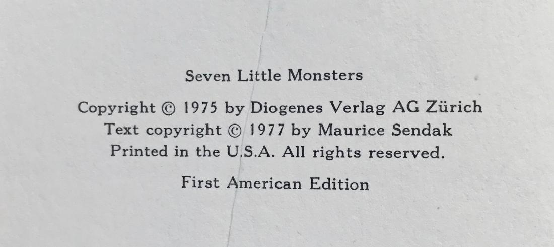 Seven Little Monsters Hand-Signed Maurice Sendak 1977 - 3