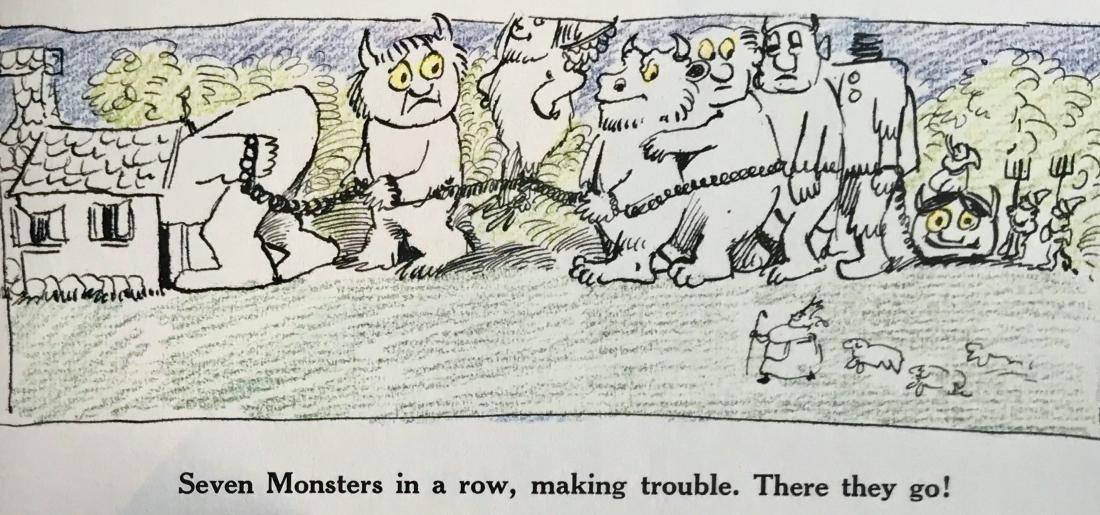 Seven Little Monsters Hand-Signed Maurice Sendak 1977 - 6