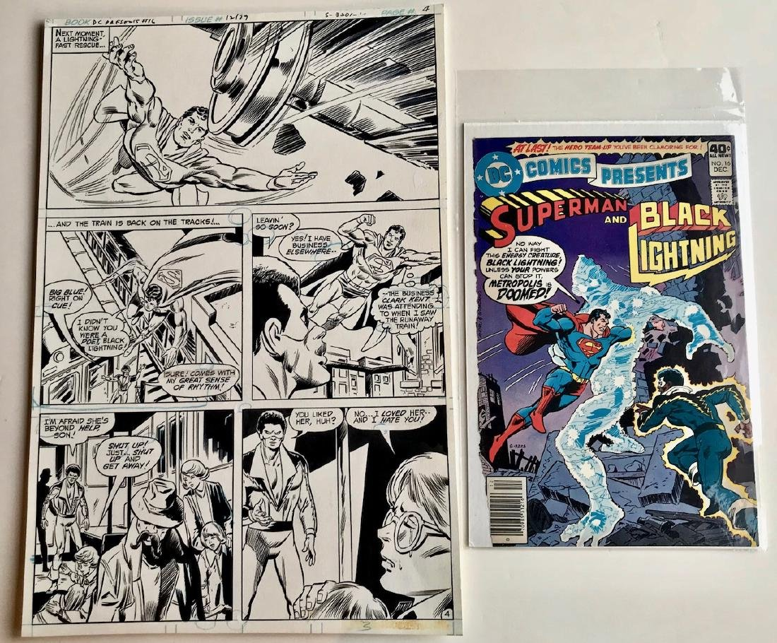 Original Superman D.C. Comics Storyboard Joe Staton #16