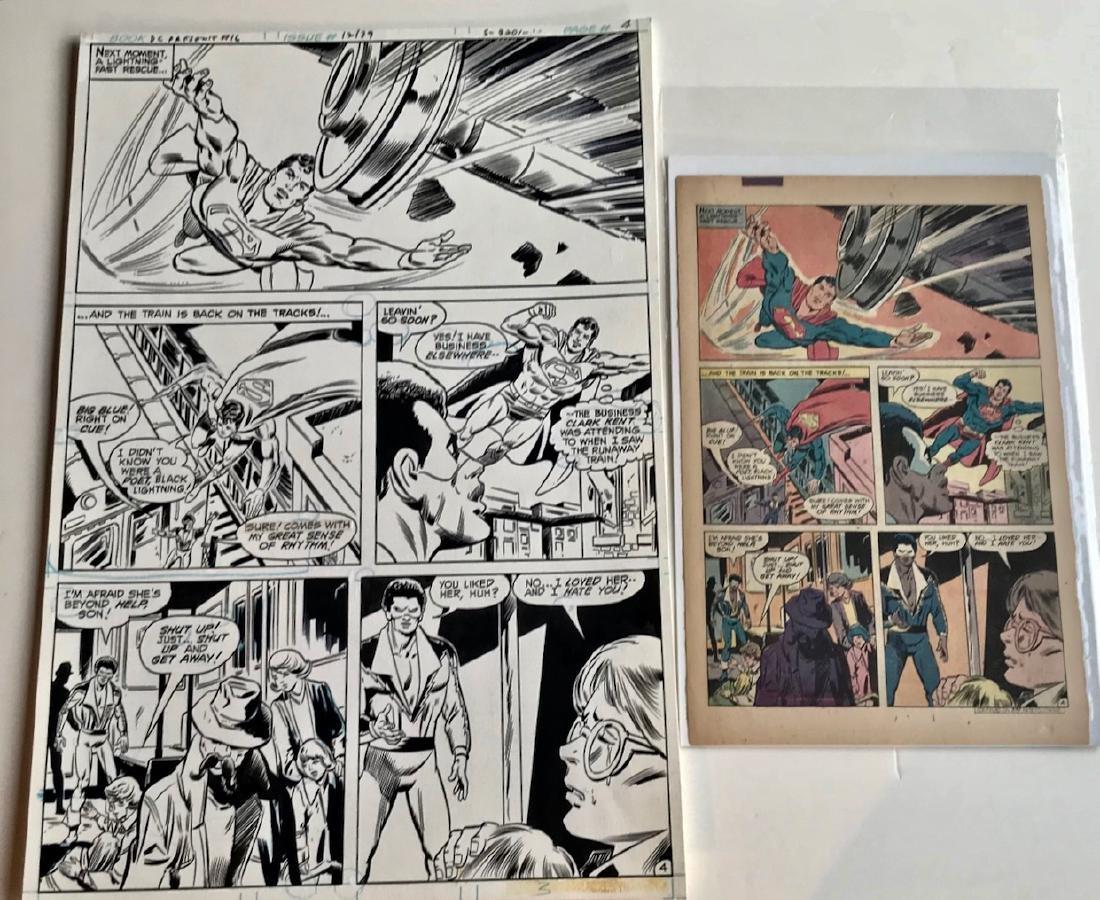 Original Superman D.C. Comics Storyboard Joe Staton #16 - 2