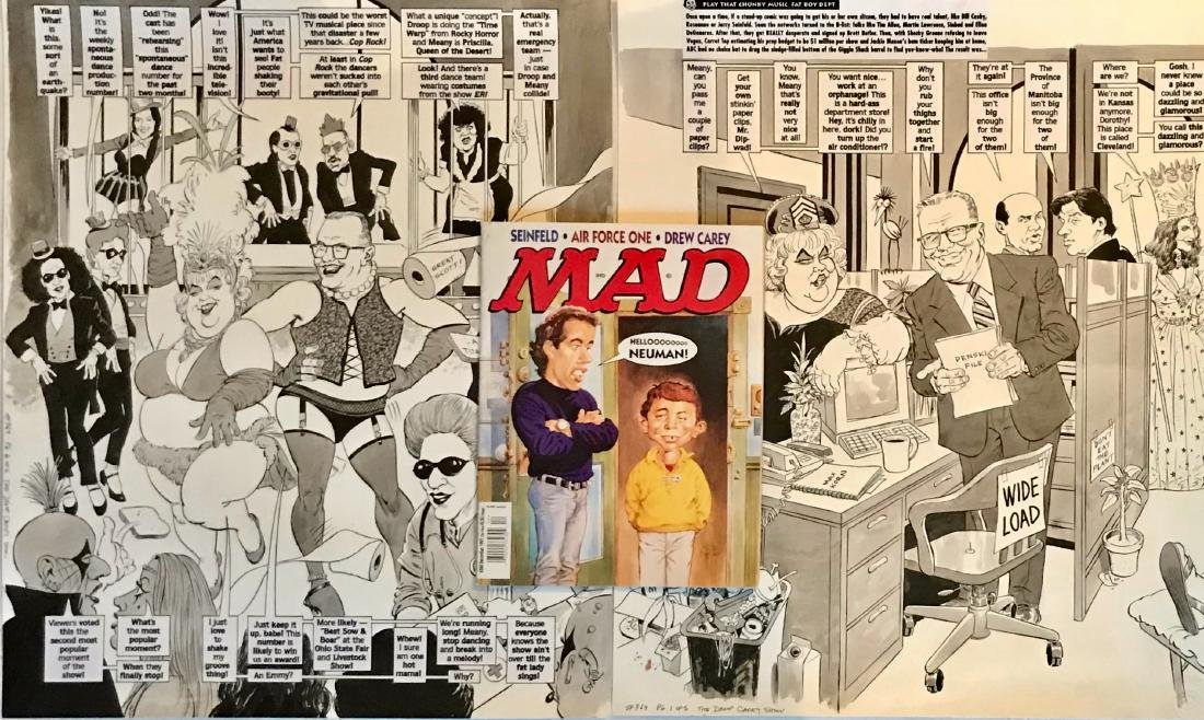 Original Mad Magazine Storyboards, DREW CAREY Parody