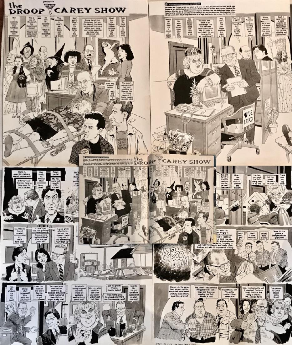 Original Mad Magazine Storyboards, DREW CAREY Parody - 2
