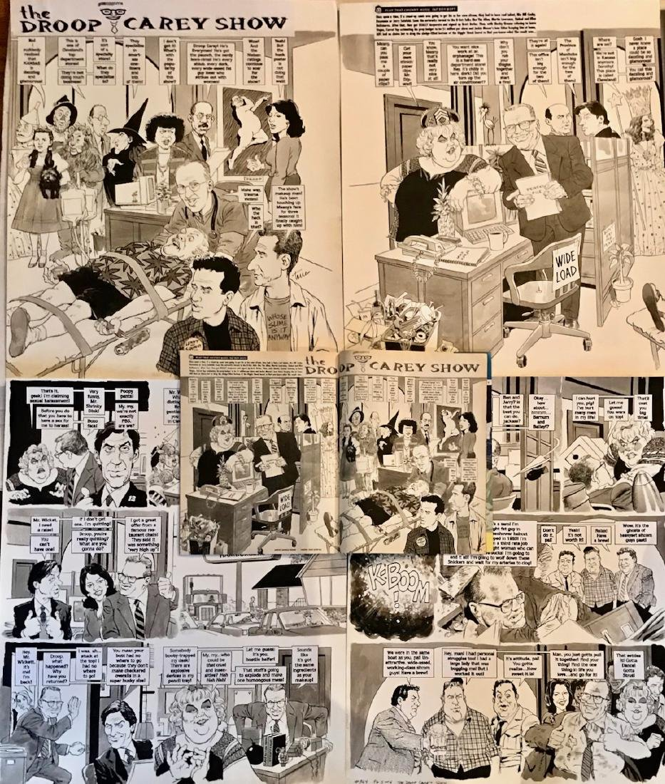 Original Mad Magazine Storyboards, DREW CAREY Parody - 4
