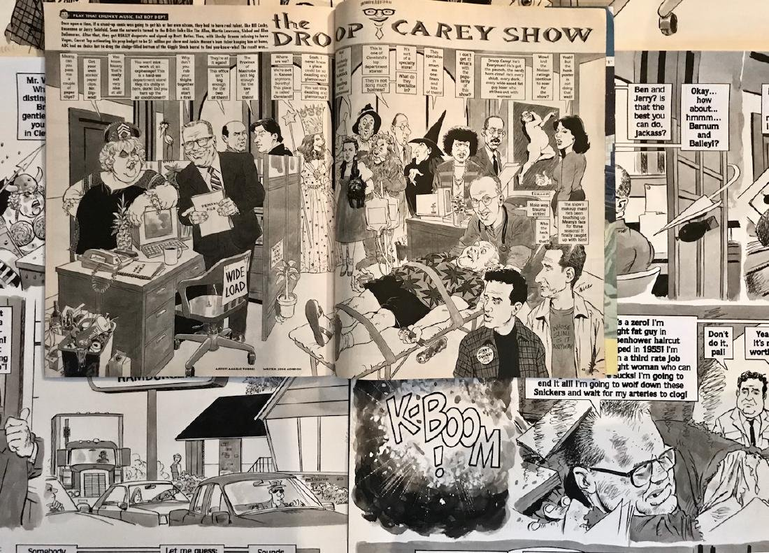Original Mad Magazine Storyboards, DREW CAREY Parody - 5