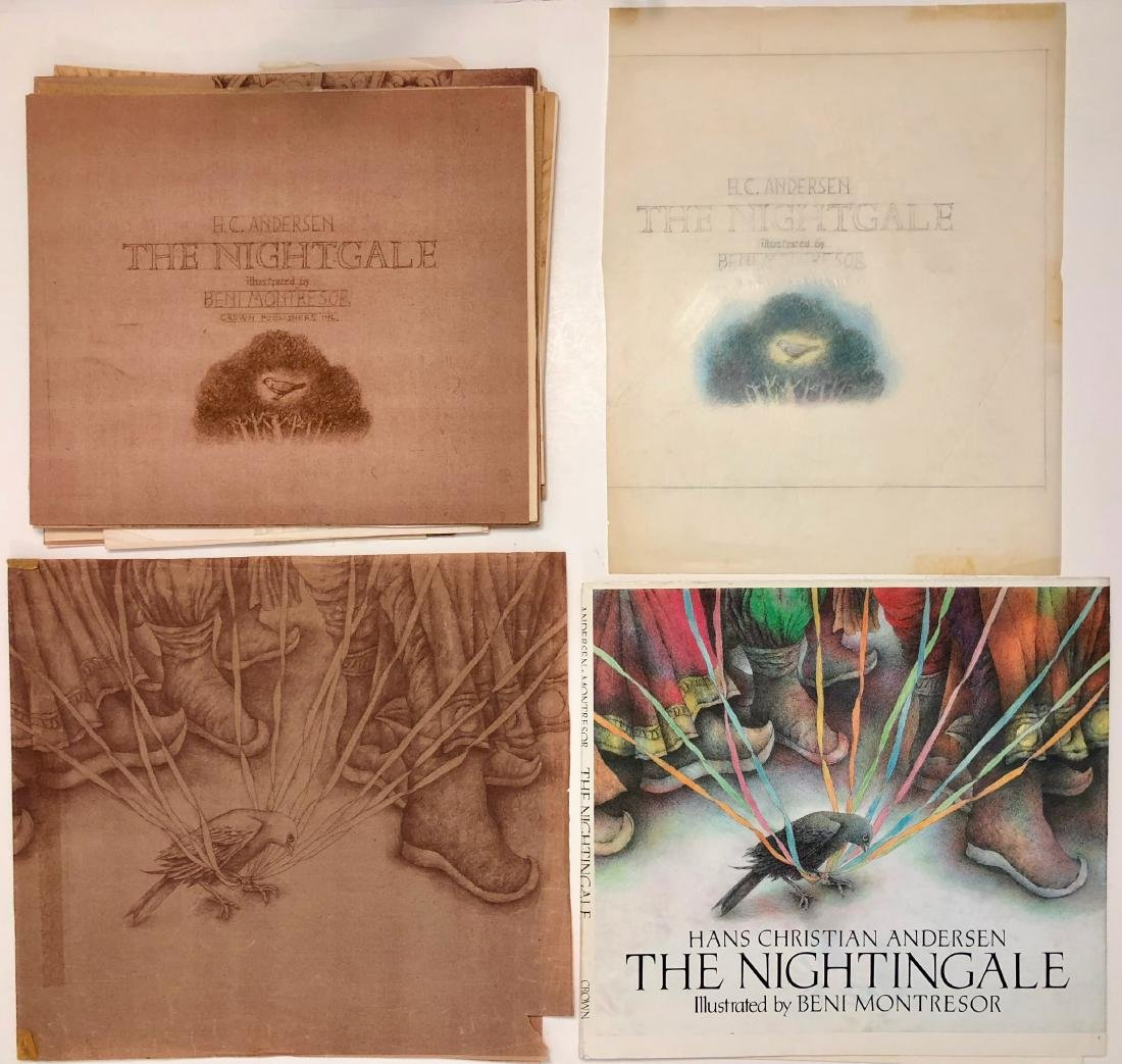 Beni Montresor Original Mock Up Book The Nightingale