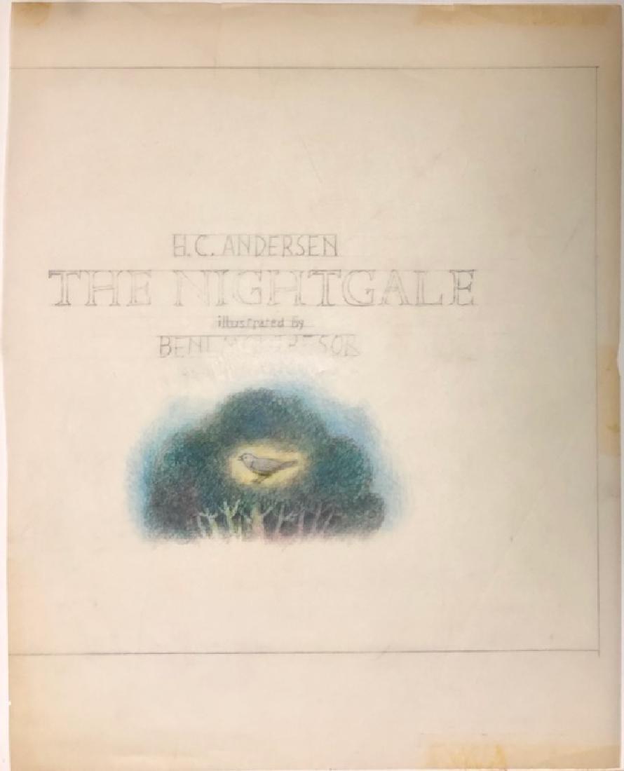 Beni Montresor Original Mock Up Book The Nightingale - 2