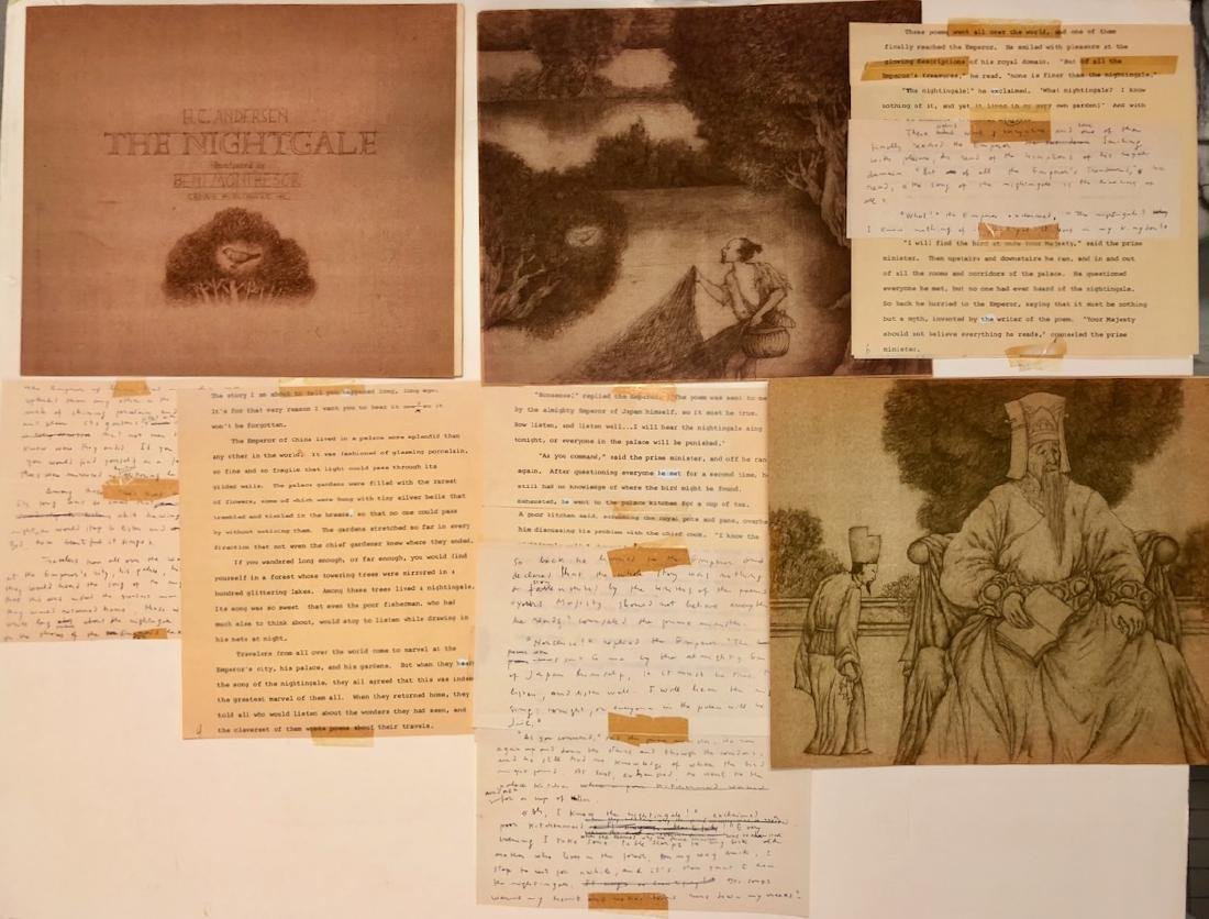 Beni Montresor Original Mock Up Book The Nightingale - 3
