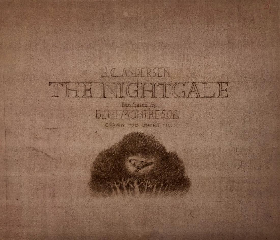 Beni Montresor Original Mock Up Book The Nightingale - 6