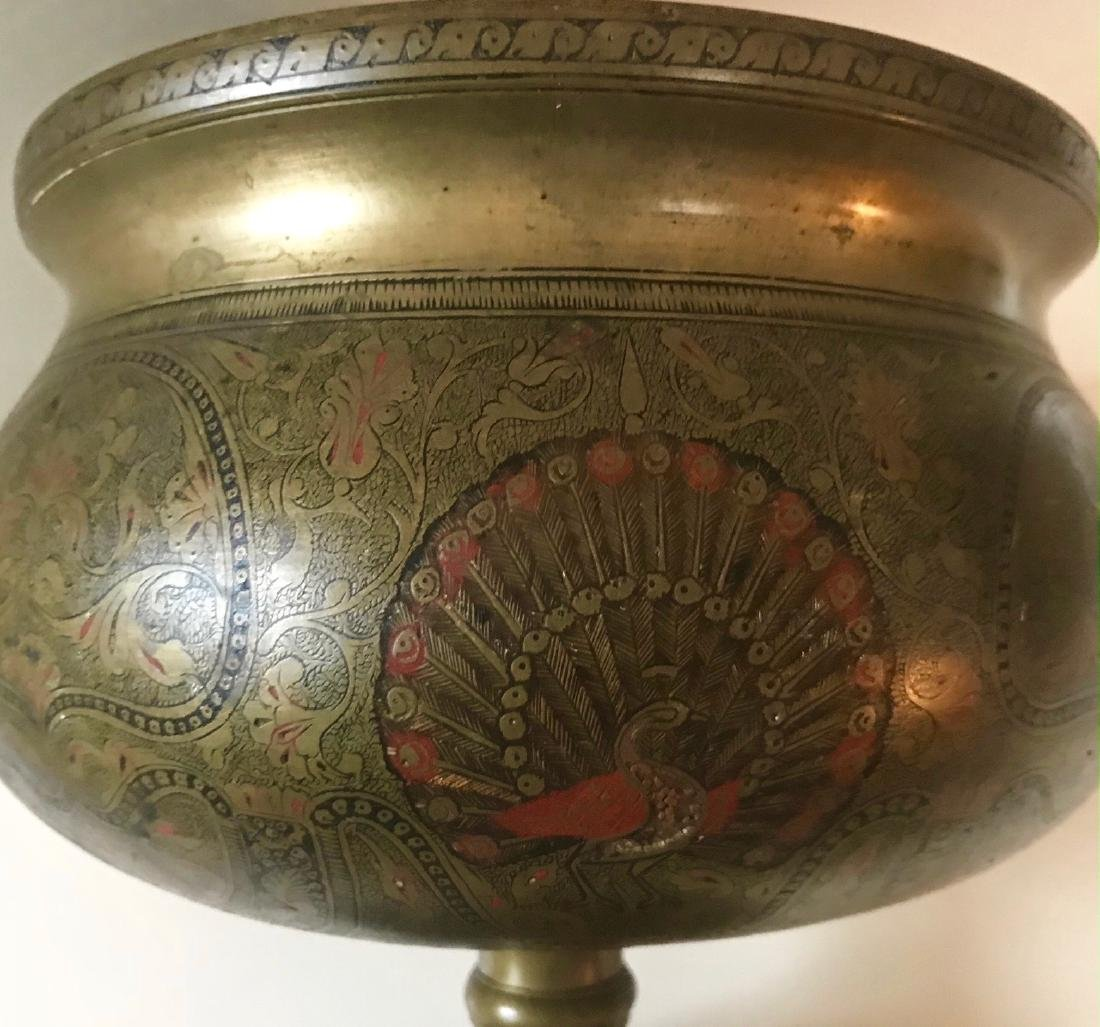 Anglo Indian Mughal Enameled Portrait Urn - 3