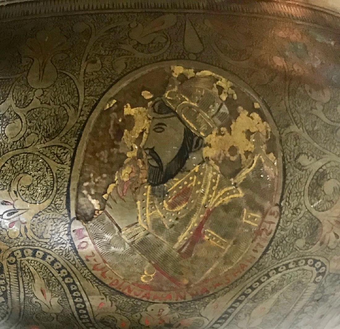 Anglo Indian Mughal Enameled Portrait Urn - 4