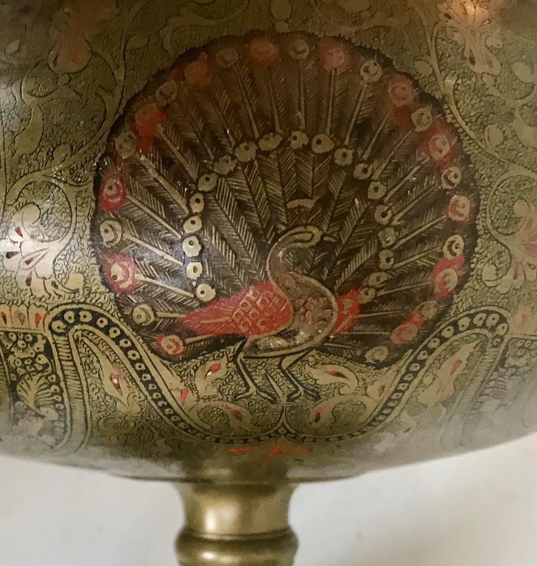 Anglo Indian Mughal Enameled Portrait Urn - 5