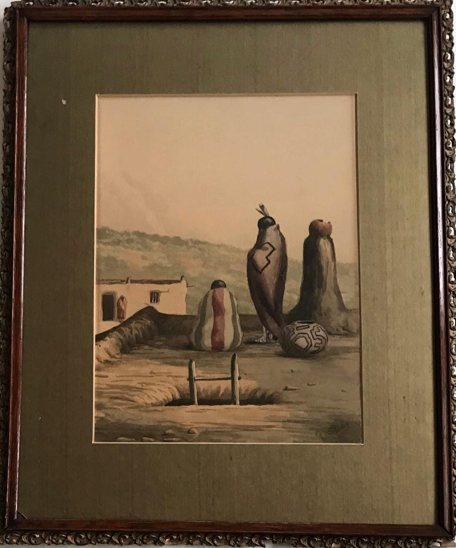 Native American Village Painting, George Stanley