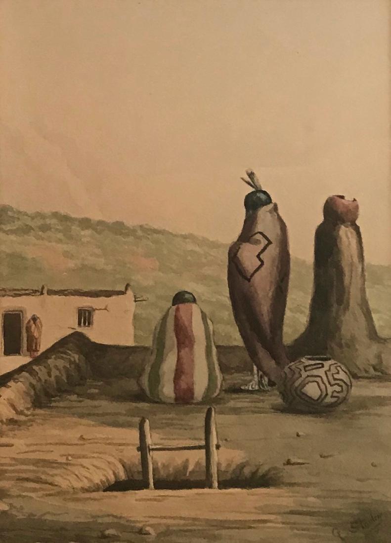 Native American Village Painting, George Stanley - 3