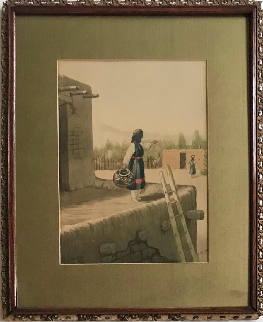 Native American Santa Fe Painting George Stanley
