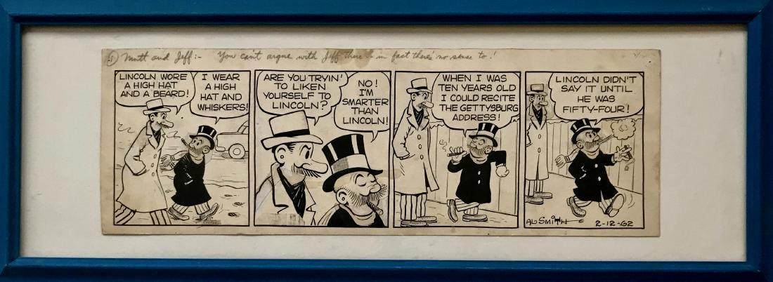Al Smith MUTT & JEFF Comic Strip 1962 ABE LINCOLN