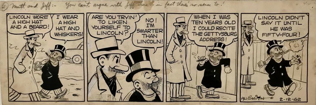 Al Smith MUTT & JEFF Comic Strip 1962 ABE LINCOLN - 2