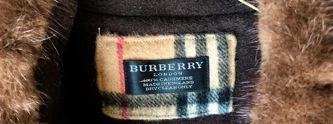 Vintage Burberry Cashmere Coat W/ Fur Collar, London - 2