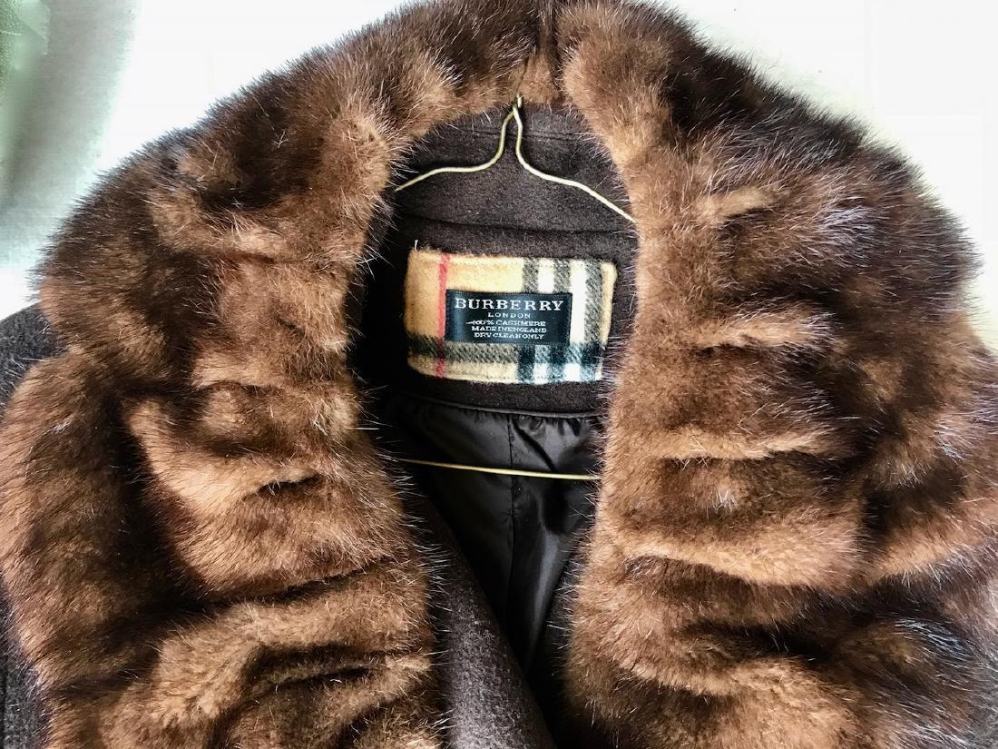Vintage Burberry Cashmere Coat W/ Fur Collar, London - 3
