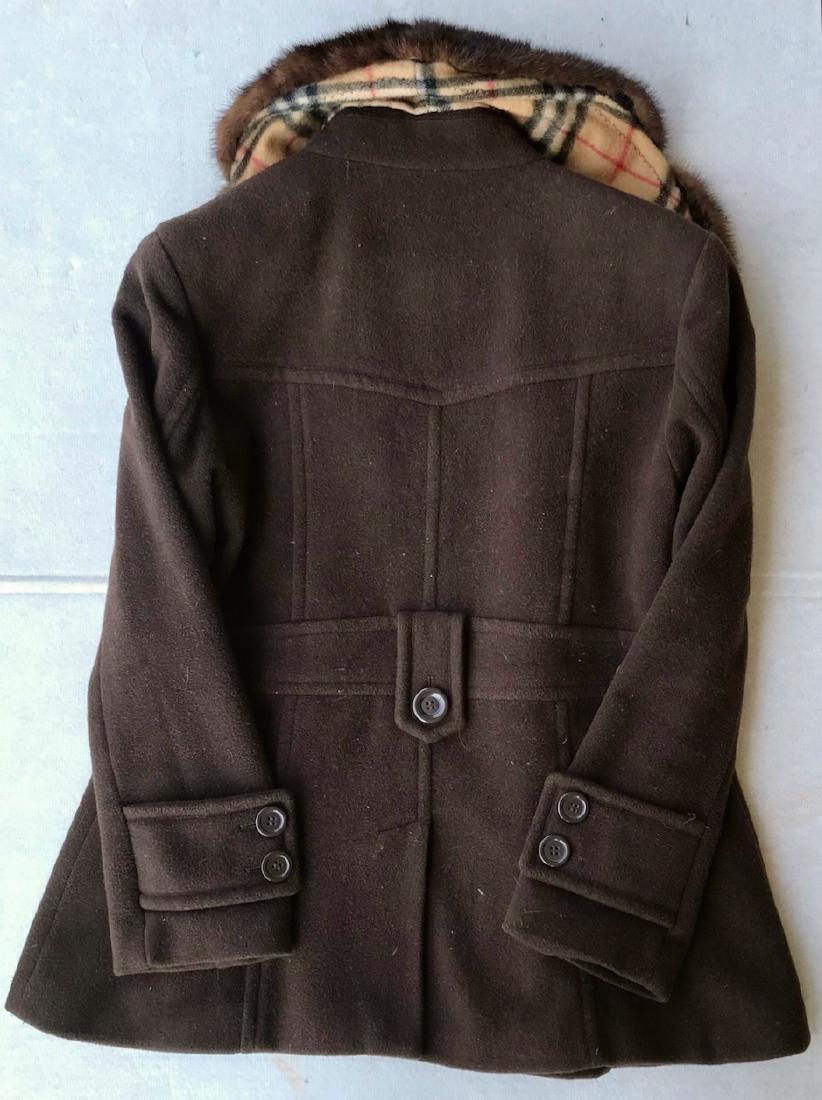 Vintage Burberry Cashmere Coat W/ Fur Collar, London - 4