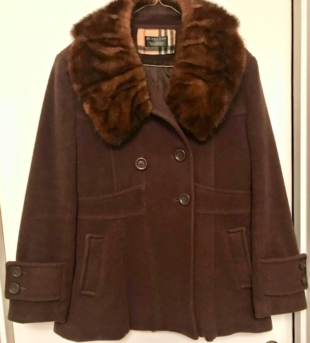 Vintage Burberry Cashmere Coat W/ Fur Collar, London - 5