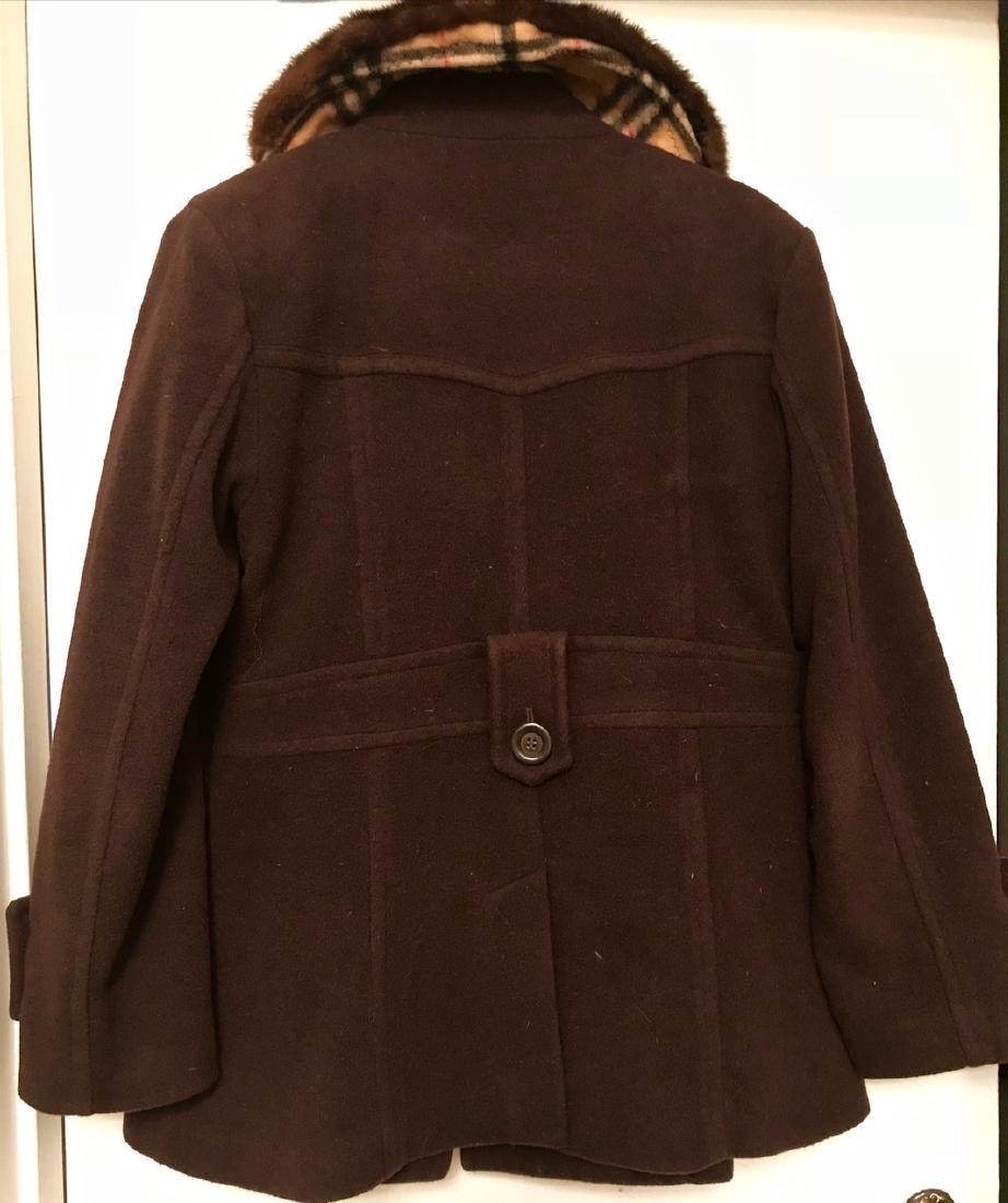 Vintage Burberry Cashmere Coat W/ Fur Collar, London - 6