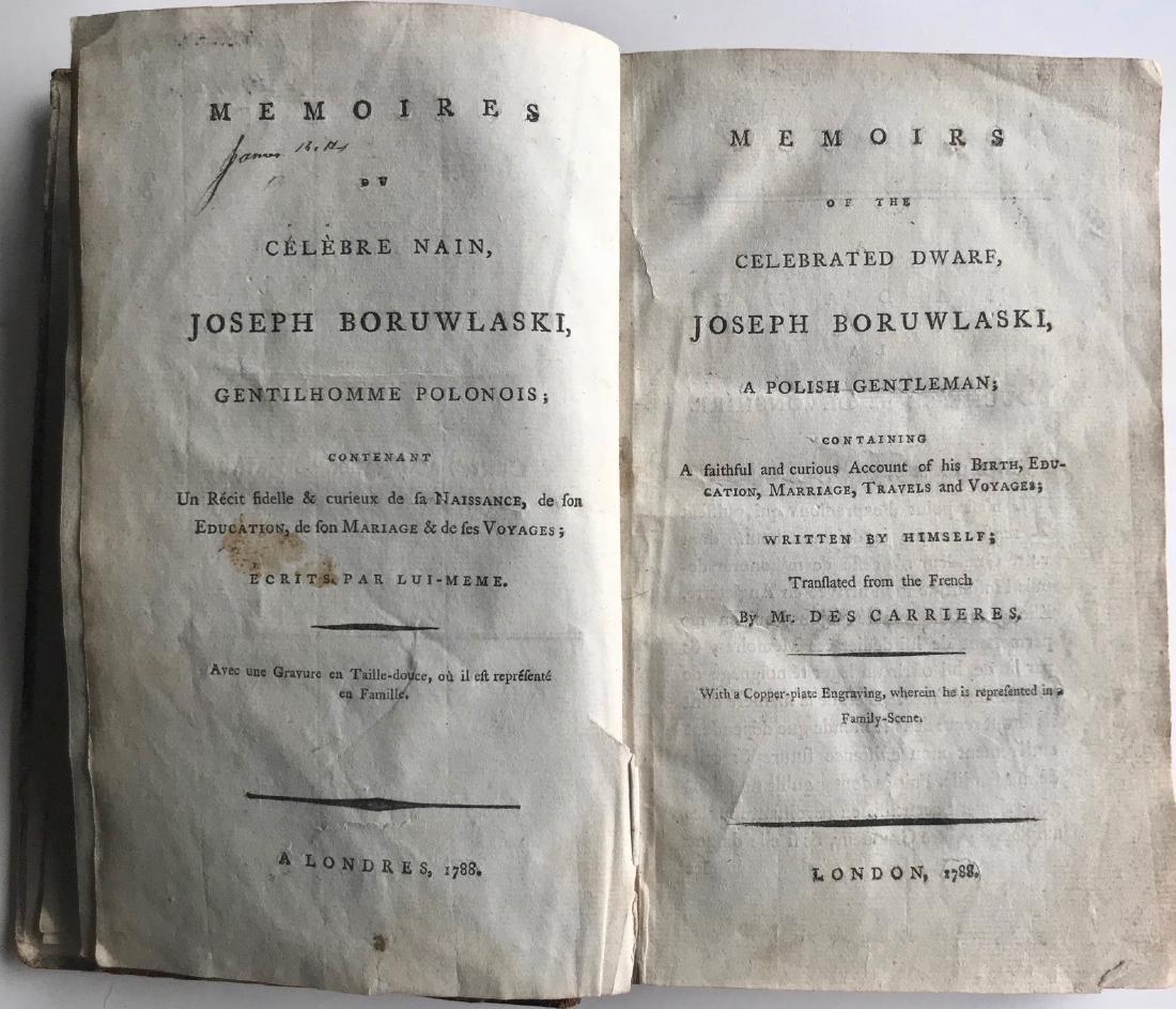 Memoirs Of the Celebrated Dwarf Joseph Boruwlaski 1788