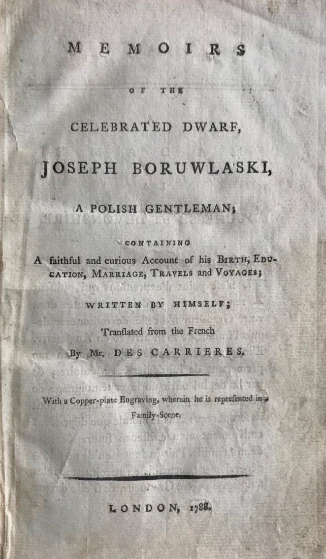 Memoirs Of the Celebrated Dwarf Joseph Boruwlaski 1788 - 4