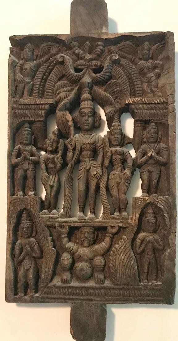 Hindu Goddess Temple Relief Carving, India