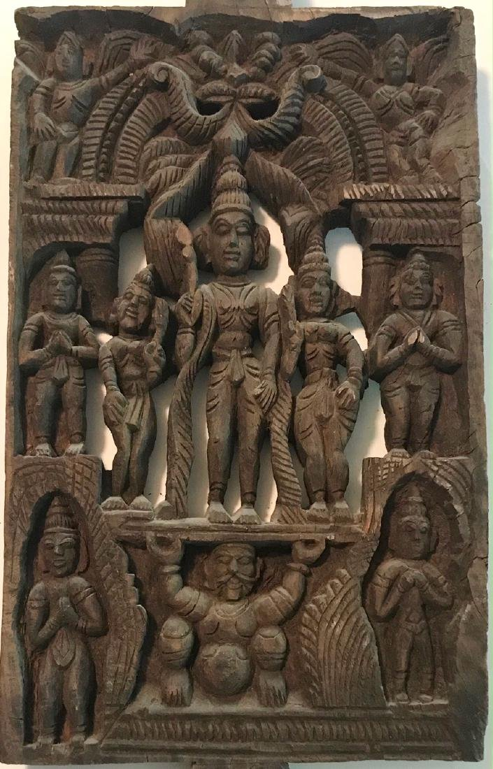 Hindu Goddess Temple Relief Carving, India - 2