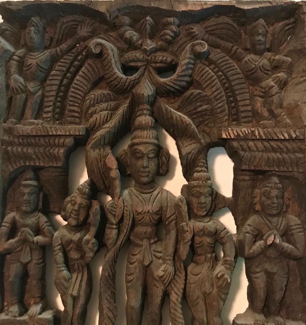 Hindu Goddess Temple Relief Carving, India - 3