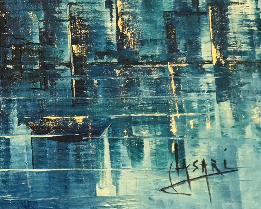 Modern Abstract Cityscape Painting, C. Lasari - 2