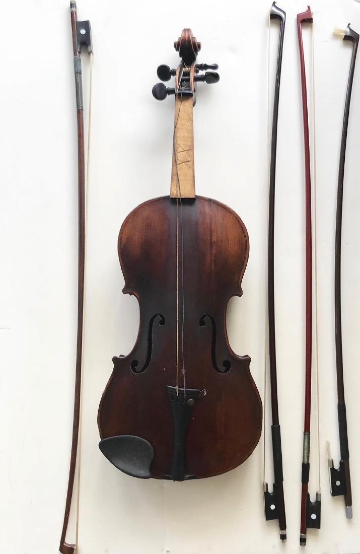 Vintage German Hopf Violin W/ Bows including G.Magniere