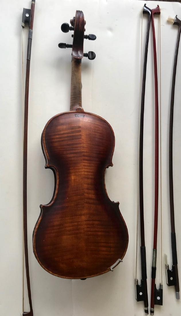Vintage German Hopf Violin W/ Bows including G.Magniere - 2