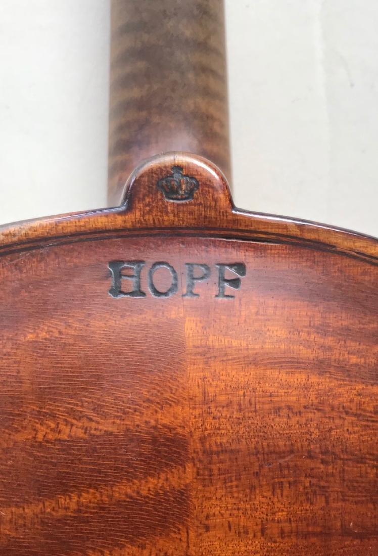 Vintage German Hopf Violin W/ Bows including G.Magniere - 3