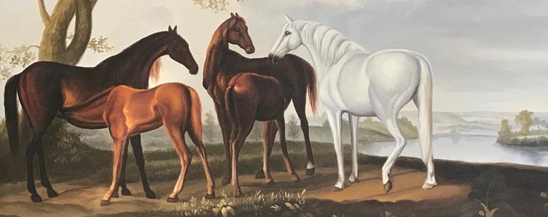 Riverview Landscape Painting With Horses,  A. Vollon - 4