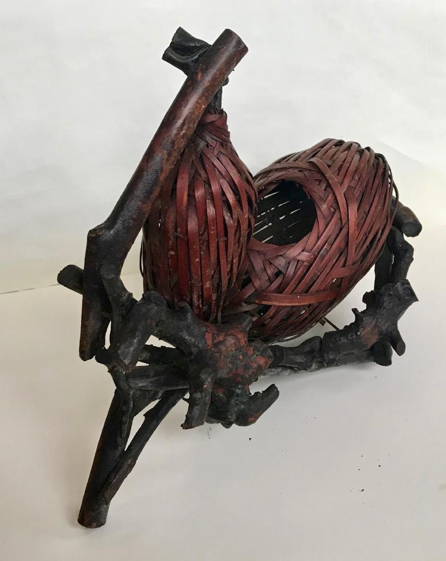 Japanese Woven Ikebana Beehive Basket 1920s